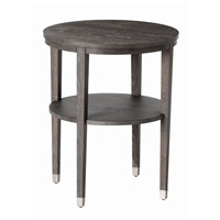 Gentry 22 inch Gray Limed Oak and Polished Nickel Side Table
