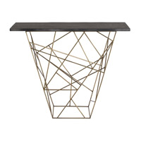 Live 42 inch Antique Brass and Black Console Table