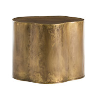 Arteriors 6034 Lowry 24 X 19 inch Antique Brass Side Table
