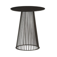 Lou 18 inch Black Accent Table