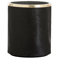 Efron Black/Brass Stool Home Decor, Round