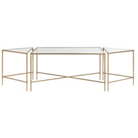 Alice 67 X 30 inch Antique Brass Coffee Table Home Decor, Set of 3