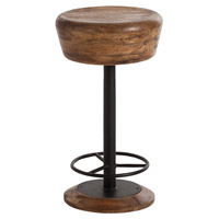 Arteriors 6120 Caymus 24 inch Natural Wood/Natural Iron Counter Stool
