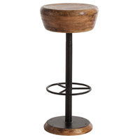 Arteriors 6121 Caymus 30 inch Natural Wood/Natural Iron Bar Stool