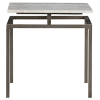 Arteriors 6163 Indigo 19 X 18 inch Natural Iron and White Side Table
