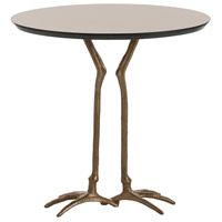 Emilio 24 X 24 inch Antique Brass/Bronze Side Table, Oval