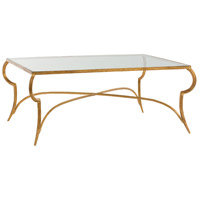 Arteriors 6181 Elba 42 inch Gold Leaf Cocktail Table Home Decor Rectangle