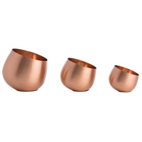 Arteriors 6186 Sven Matte Copper Container, Set of 3