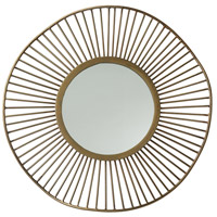 Olympia Antique Brass Mirror Home Decor, Small,Round