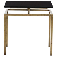 Arteriors 6439 Indigo 19 X 18 inch Antique Brass and Black Side Table