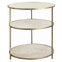 Percy 28 inch Antique Brass Side Table