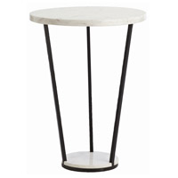 Petra 22 inch Black and White Side Table