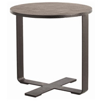 Ramiro 24 inch Black Waxed End Table