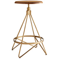 Arteriors 6698 Wyndham 25 inch Natural Wax and Vintage Brass Swivel Counter Stool