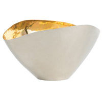 Millicent Polished Nickel and Polished Brass Centerpiece, Small