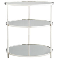 Percy 28 inch Polished Nickel Side Table