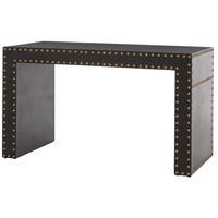 Roderick 52 X 24 inch Black Leather/Antique Brass Desk Home Decor
