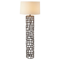 Hansel 65 inch 150 watt Natural Iron Floor Lamp Portable Light