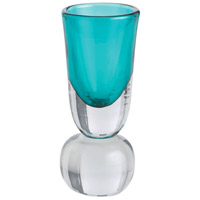 Arteriors Tiffany Vase in Turquoise Glass/Clear Glass 7742