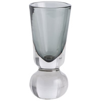 Arteriors Tiffany Vase in Smoke Glass/Clear Glass 7743