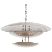 Florko 8 Light 31 inch Silver Leaf Chandelier Ceiling Light, Round