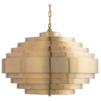 Hodges 3 Light 21 inch Matte Brass Chandelier Ceiling Light
