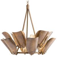 Arteriors 82008 Goulding 12 Light 38 inch Vintage Brass Chandelier Ceiling Light