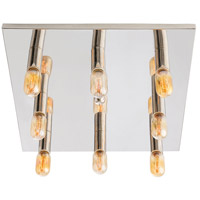 Elrick 8 Light 20 inch Polished Nickel Flush Mount Ceiling Light, Square