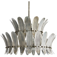 Analise 8 Light 26 inch Oxidized Silver Chandelier Ceiling Light, Two Tier