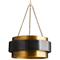 Arteriors 84015 Nolan 4 Light 30 inch Vintage Brass Pendant Ceiling Light, Large