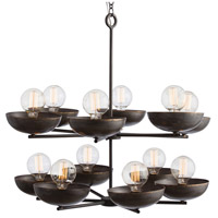 Stewart 12 Light 30 inch Natural Iron/Brass Chandelier Ceiling Light