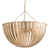 Camden 5 Light 30 inch Gold Leafed Iron Pendant Ceiling Light