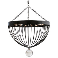 Aiden 15 Light 21 inch Hammered Burnt Waxed Iron Chandelier Ceiling Light