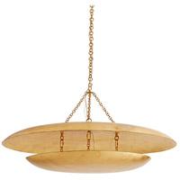 Arteriors 86007 Florko 3 Light 42 inch Gold Leaf Chandelier Ceiling Light