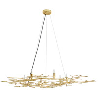 Arteriors 86008 Seymour 6 Light 48 inch Gold Leaf Fixed Chandelier Ceiling Light