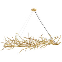 Arteriors 86009 Sherwood 16 Light 64 inch Gold Leaf Fixed Chandelier Ceiling Light