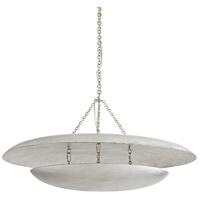 Arteriors 86010 Florko 3 Light 42 inch Silver Leaf Chandelier Ceiling Light