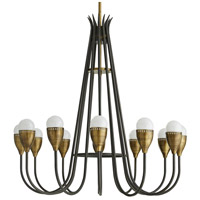 Arteriors 86012 Sanders 12 Light 36 inch Natural Iron and Antique Brass Chandelier Ceiling Light