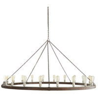 Arteriors 86014 Geoffrey 20 Light 72 inch Dark Gray and Rust Chandelier Ceiling Light X-Large