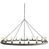 Arteriors 86018 Geoffrey 20 Light 72 inch Dark Gray and Natural Iron Chandelier Ceiling Light X-Large