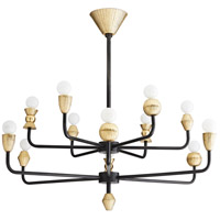 Arteriors 86020 Vandana 12 Light 33 inch Natural Iron Chandelier Ceiling Light