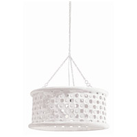 Arteriors 86719 Jarrod 1 Light 22 inch Whitewashed Wood and White Pendant Ceiling Light, Small