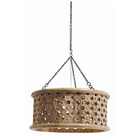 Jarrod 1 Light 22 inch Natural Wax and Natural Iron Pendant Ceiling Light, Small