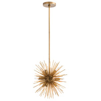 Arteriors 89001 Mini Zanadoo 12 Light 16 inch Antique Brass Chandelier Ceiling Light