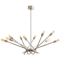 Webster 10 Light 9 inch Vintage Silver Chandelier Ceiling Light