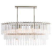 Arteriors 89009 Nessa 8 Light 40 inch Polished Nickel Chandelier Ceiling Light