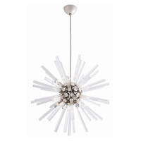 Hanley 8 Light 30 inch Polished Nickel Chandelier Ceiling Light, Small