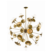 Keegan 31 Light 45 inch Antique Brass Chandelier Ceiling Light, Large