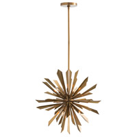 Waldorf 8 Light 24 inch Antique Brass Chandelier Ceiling Light, Small,Round
