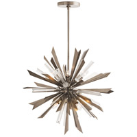 Waldorf 8 Light 24 inch Vintage Silver Chandelier Ceiling Light, Small,Round